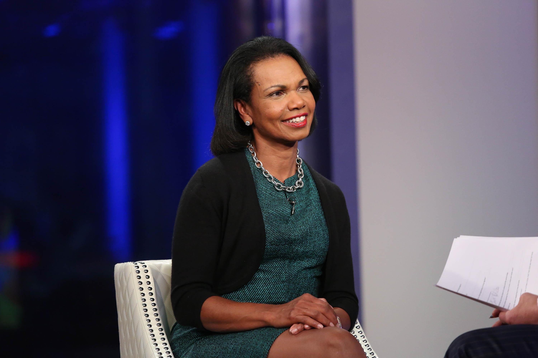NEW YORK, NY - NOVEMBER 05:  Condoleezza Rice visits 'FOX And Friends' at FOX Studios on November 5, 2014 in New York City.  (Photo by Rob Kim/Getty Images)