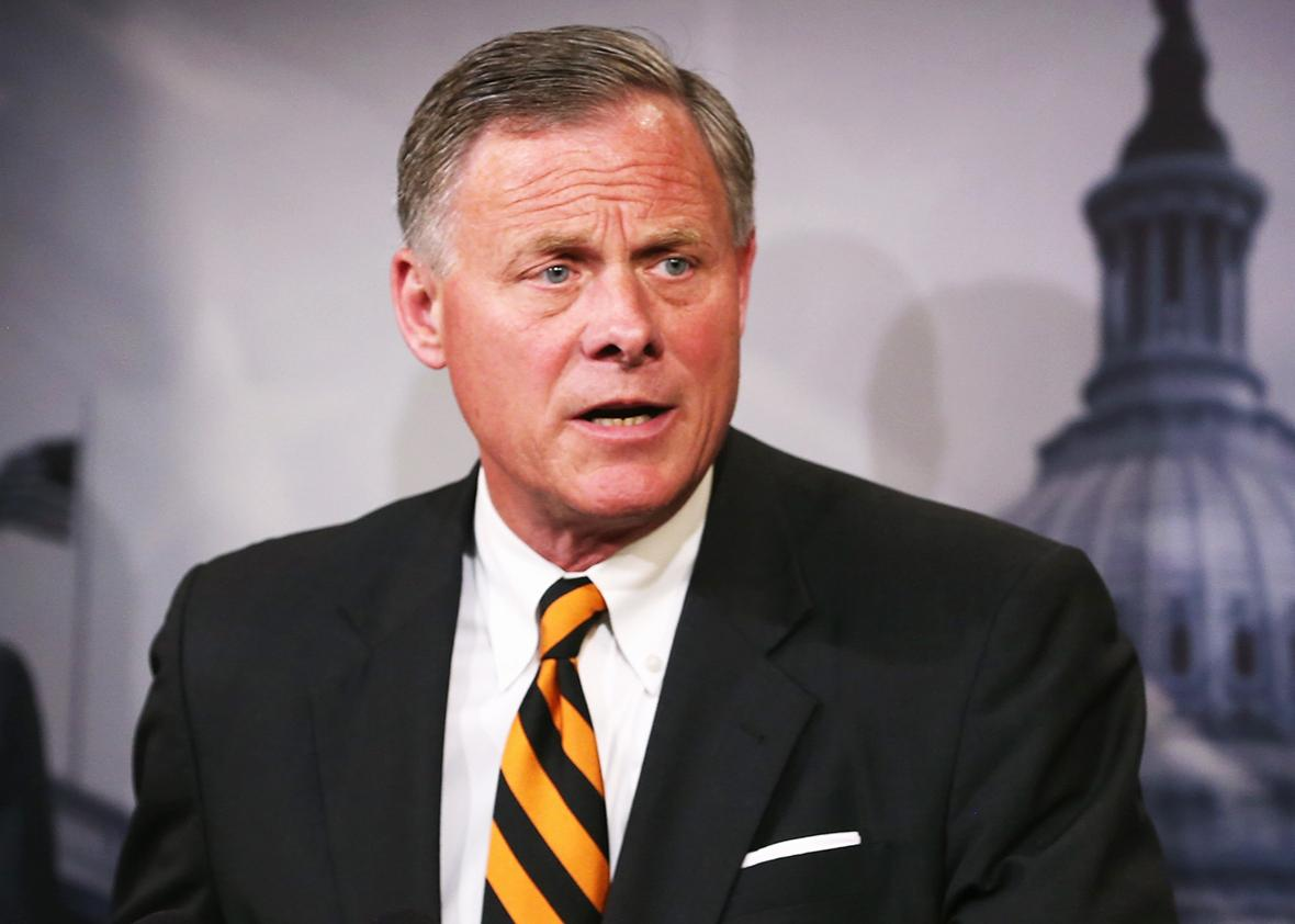Sen. Richard Burr speaks about veterans affairs during a news conference on Capitol Hill, June 3, 2014 in Washington, DC.