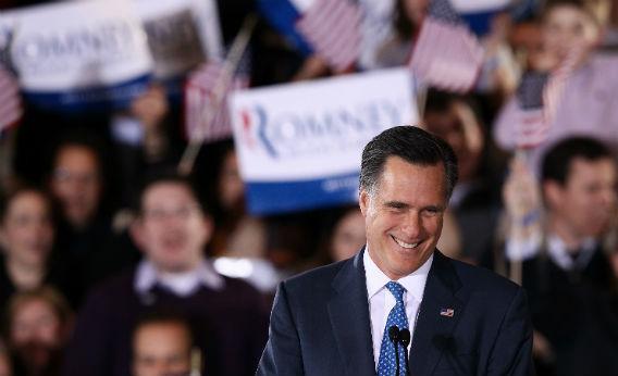 Mitt Romney campaigns.