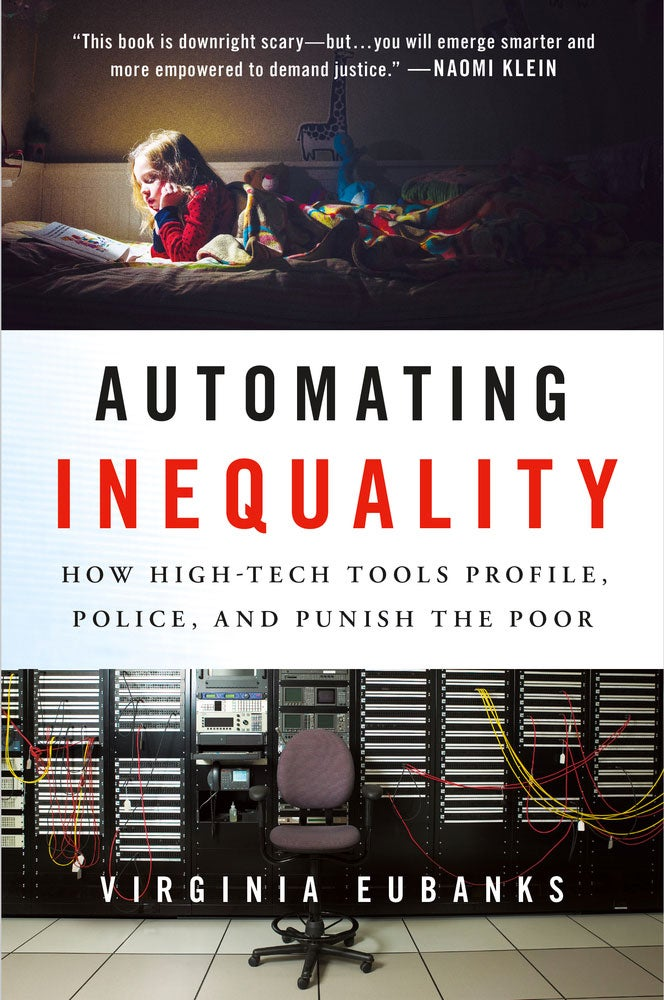 The cover of Automating Inequality, by Virginia Eubanks.