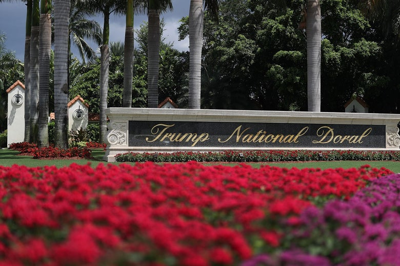 The grounds of the Trump National Doral golf course on June 1, 2016 in Doral, Florida.