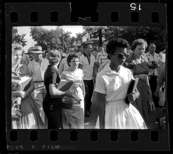 Hazel Bryan and Elizabeth Eckford, Little Rock, Ark., September 1957.