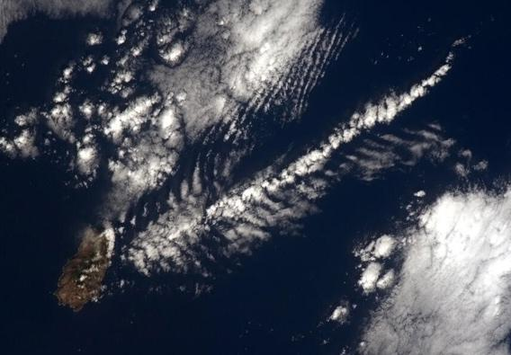 Saint Helena island from space