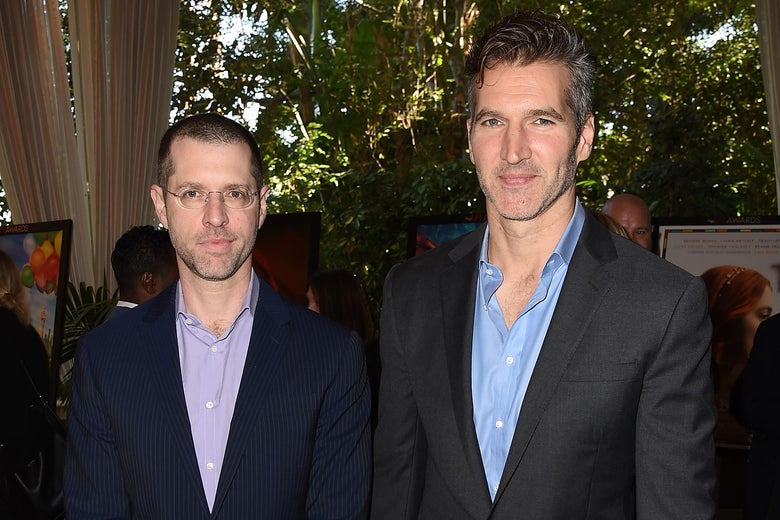 D. B. Weiss and David Benioff attend the 18th Annual AFI Awards at Four Seasons Hotel Los Angeles at Beverly Hills on January 5, 2018 in Los Angeles, California