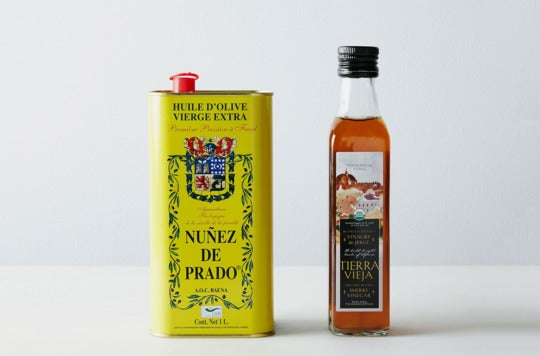 Organic Spanish Olive Oil & Sherry Vinegar Set.