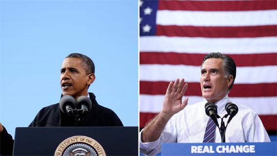 President Barack Obama in Concord, New Hampshire on Sunday and Gov. Mitt Romney on Monday in Fairfax, Virginia.
