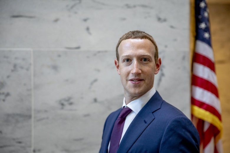 Mark Zuckerberg inside a Senate office building