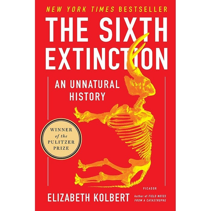 The cover of The Sixth Extinction by Elizabeth Kolbert.