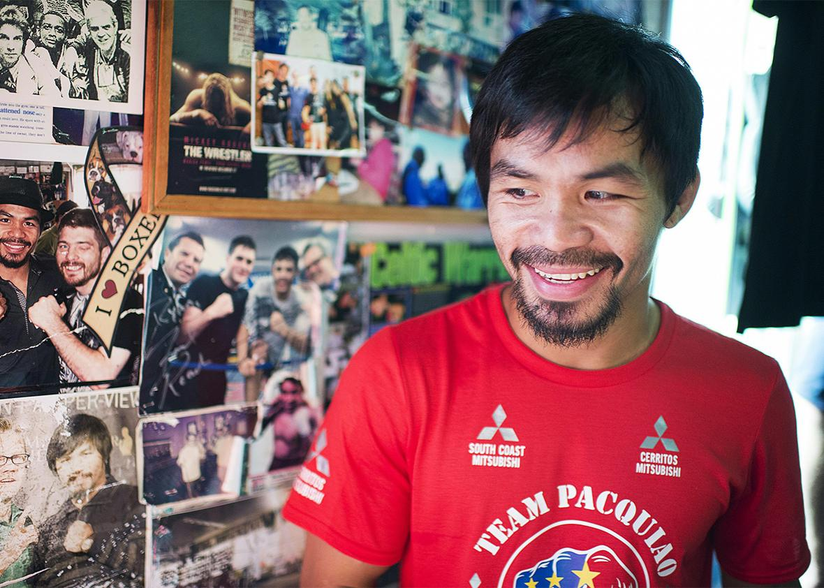 Filipino boxer Manny Pacquiao.