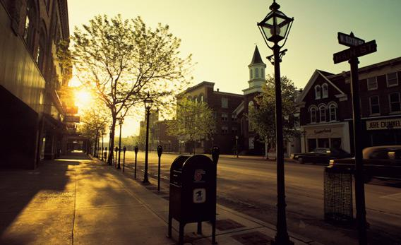 Deserted street.