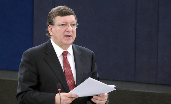 European Commission President Jose Manuel Barroso delivers a speech during a debate on July 2, 2013, at the European Parliament in Strasbourg, eastern France.