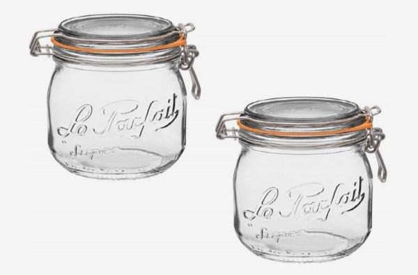 Le Parfait French Glass Canning Jar.