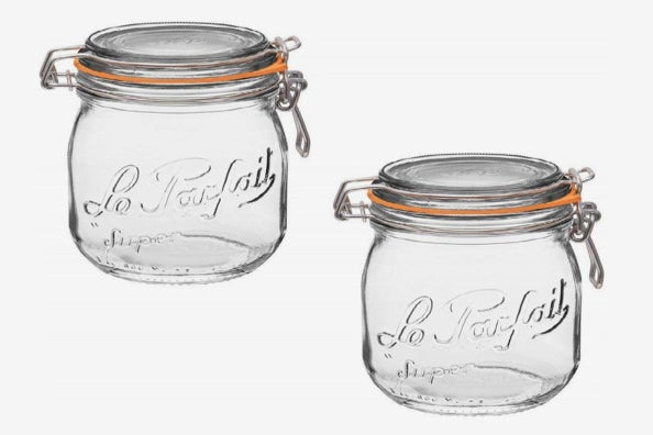 Le Parfait French Glass Canning Jar.