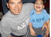 Shawn Mertens with Shawn Junior