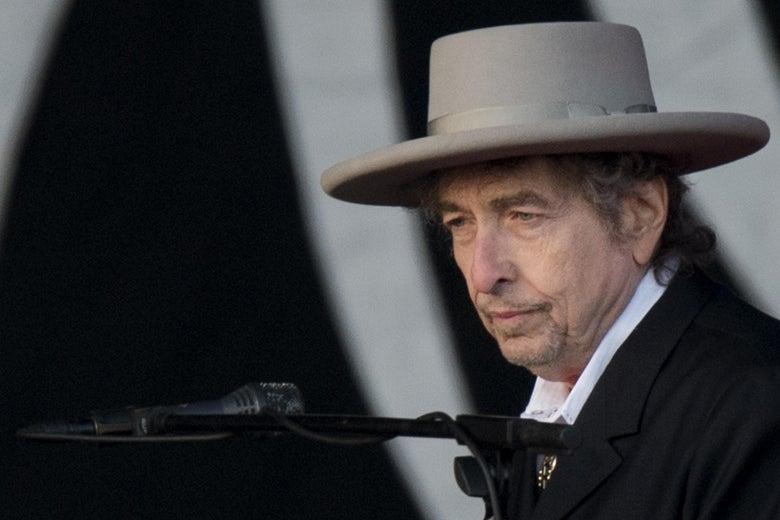 Bob Dylan looking skeptical.