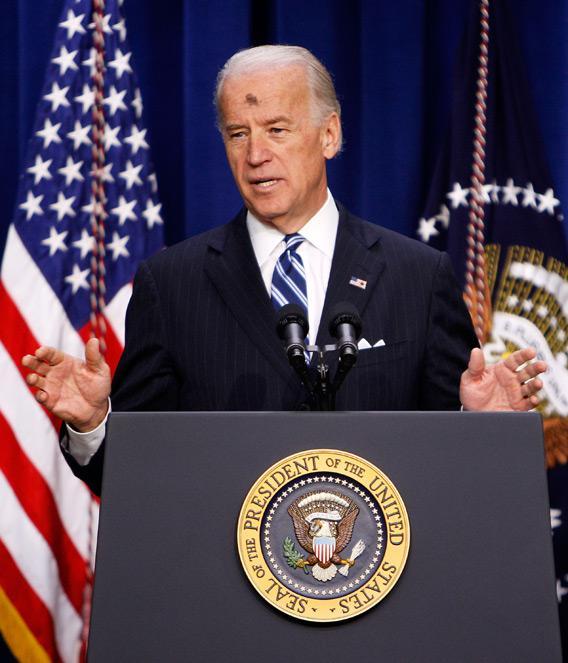 Joe Biden on Ash Wednesday 2010.
