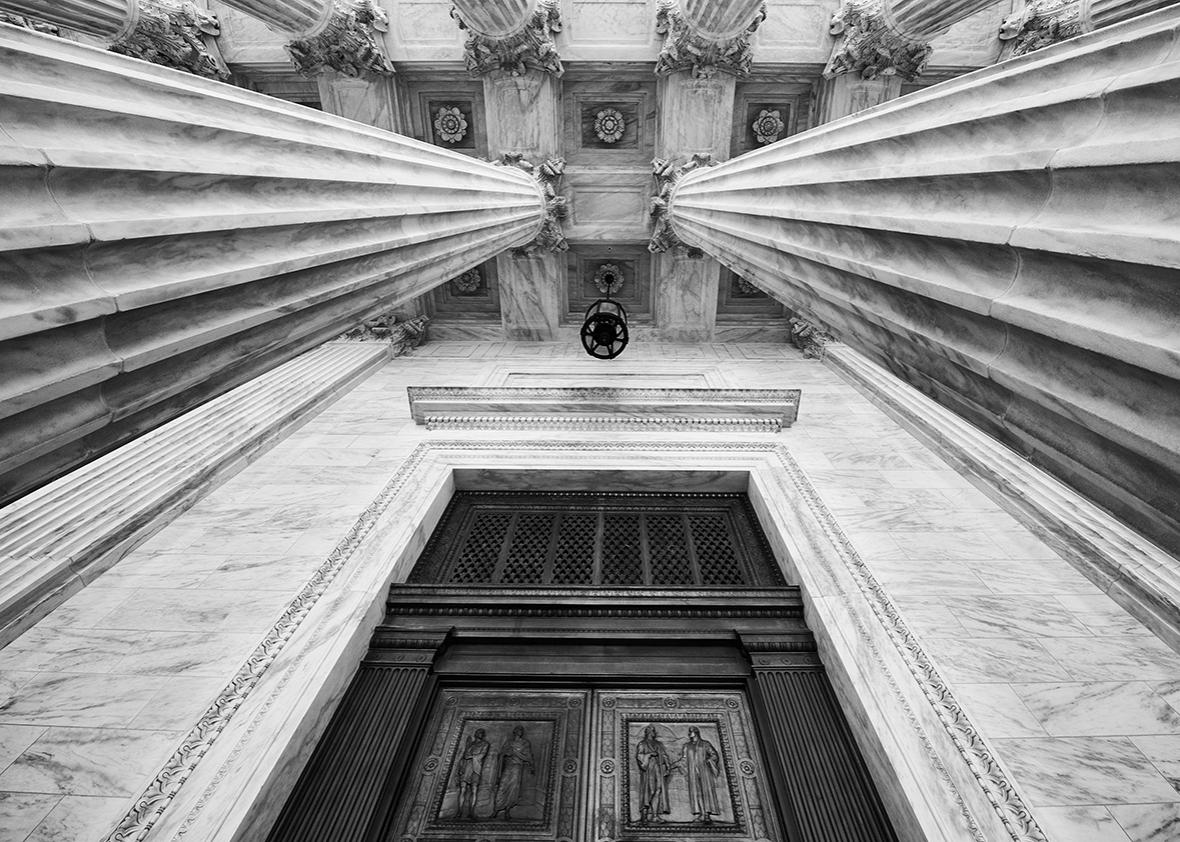 Entrance to the Supreme Court.