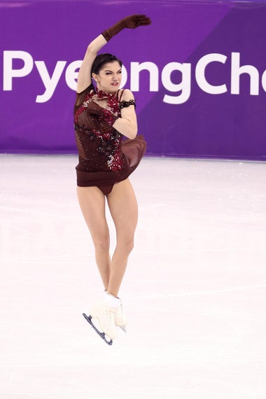 GANGNEUNG, SOUTH KOREA - FEBRUARY 23:  Evgenia Medvedeva of Olympic Athlete from Russia competes during the Ladies Single Skating Free Skating on day fourteen of the PyeongChang 2018 Winter Olympic Games at Gangneung Ice Arena on February 23, 2018 in Gangneung, South Korea.  (Photo by Jamie Squire/Getty Images)