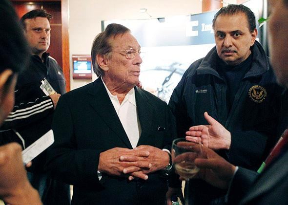 Real estate mogul and Los Angeles Clippers NBA basketball team owner Donald Sterling.