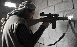 Libyan rebel sniper. Click image to expand.