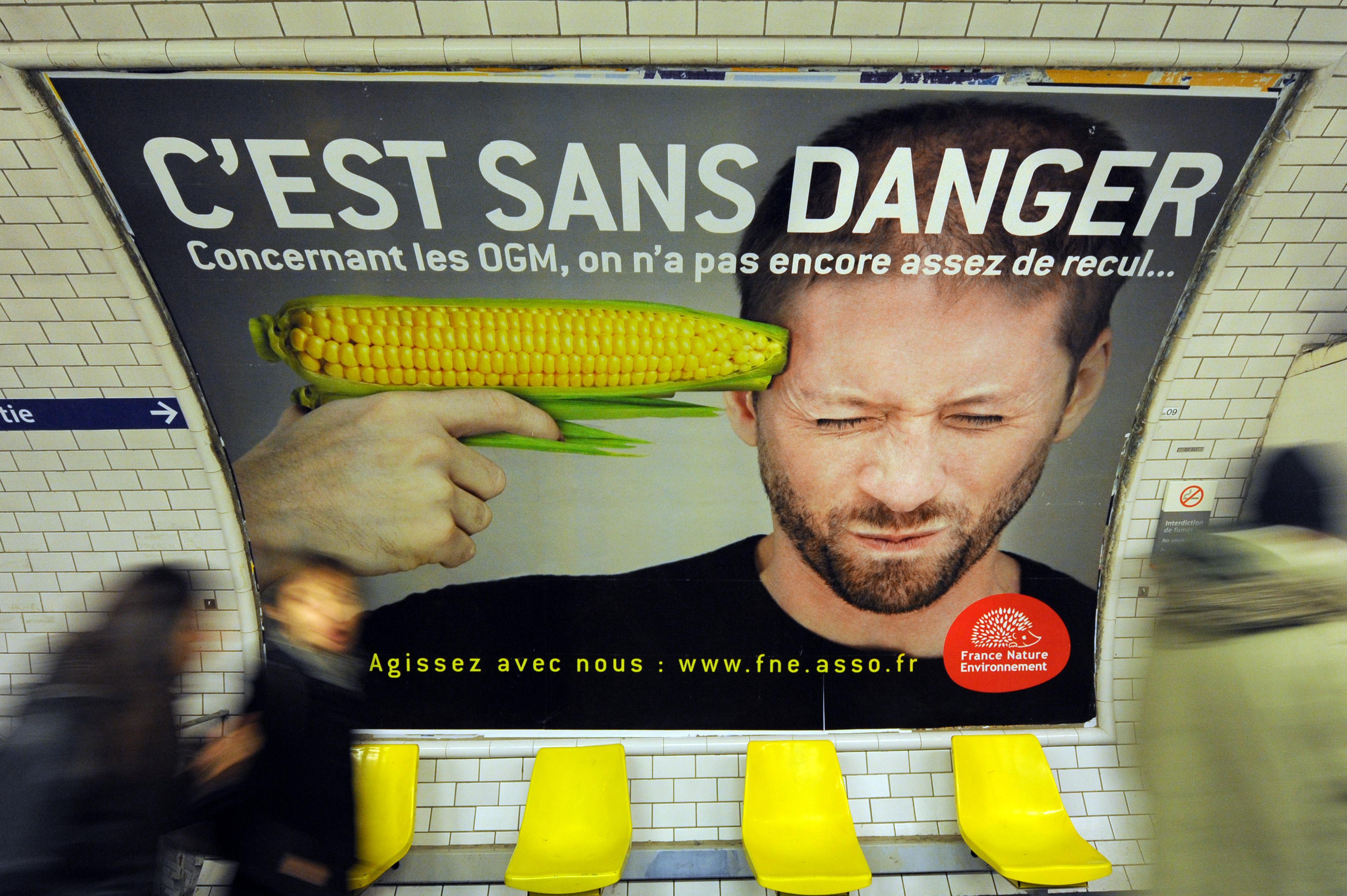 An anti-GM foods ad in Paris