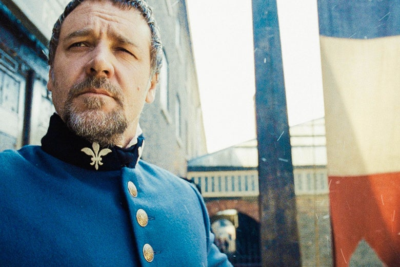 Russell Crowe as Javert in 2012's Les Misérables.