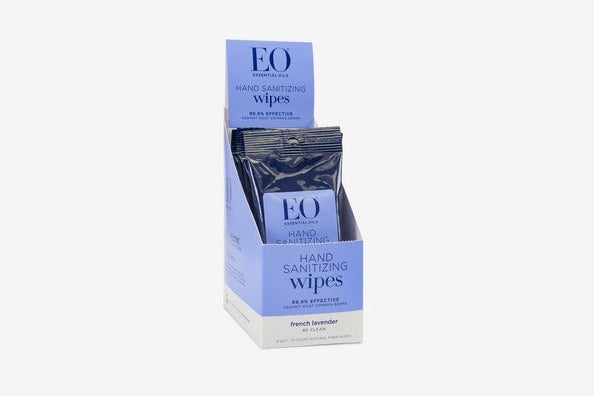 EO Resealable Hand Sanitizer Wipes Lavender