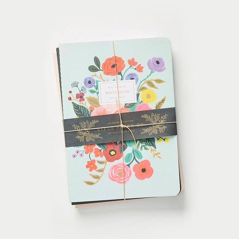 A bundle of Rifle Paper Co. journals