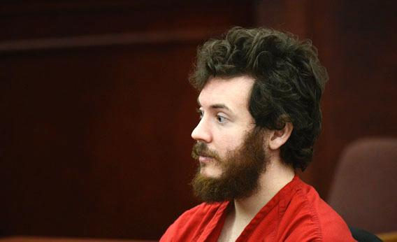 Aurora, Colo., theater shooting suspect James Holmes sits in the courtroom during his arraignment in Centennial, Colo., on March 12, 2013.
