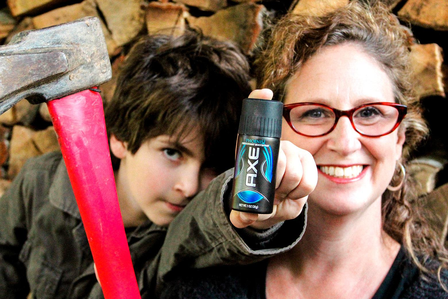 If Axe is just for men (and boys), what effect does it have with a fortysomething woman? Photo by Aaron Fein.