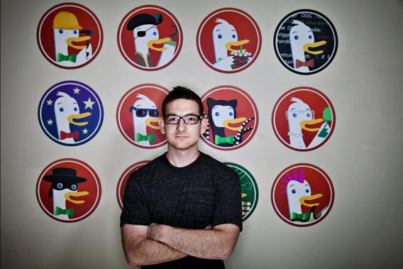 Gabriel Weinberg is the creator of duckduckgo.com, a search engine that does not track users history and information.
