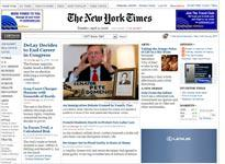 NYTimes.com home page. Click image to expand.