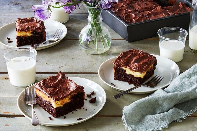 Try this genius chocolate cream cheese cake recipe.