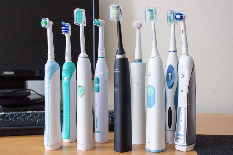 Assorted electric toothbrushes