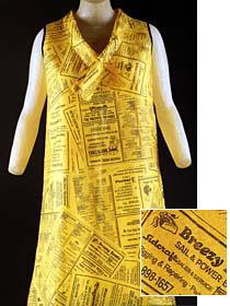American paper dress printed with Yellow Pages motif (c. 1967)
