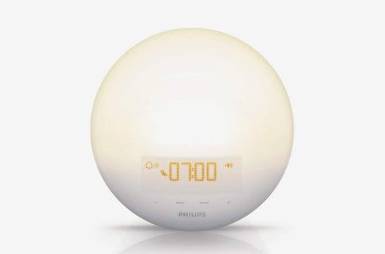 Philips Wake-Up Light Alarm Clock With Sunrise Simulation and Sunset Fading Night Light.