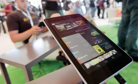 A Nexus 7 tablet is shown at the Google Developers Conference on June 27, 2012 in San Francisco, California.