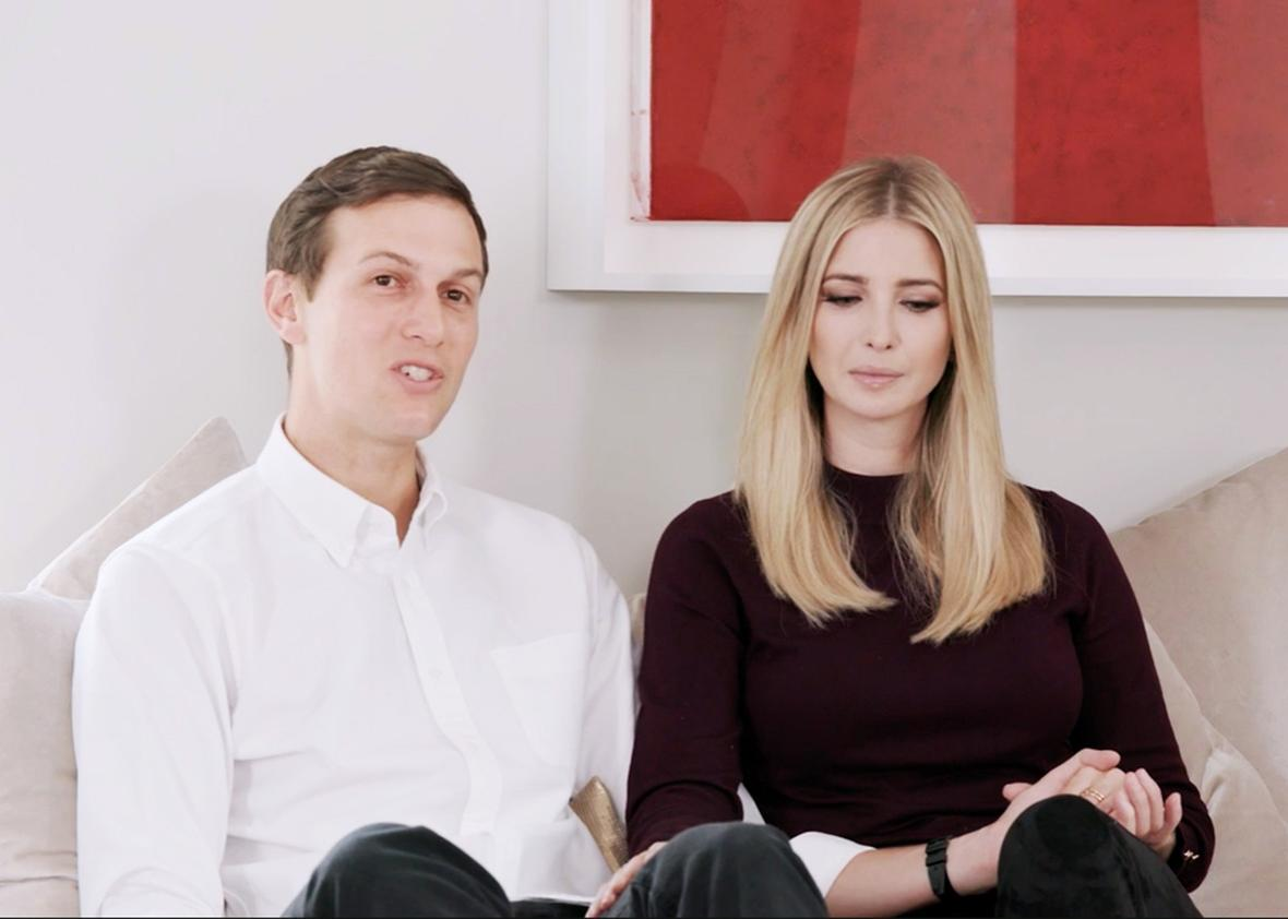 John Kushner and Ivanka Trump.