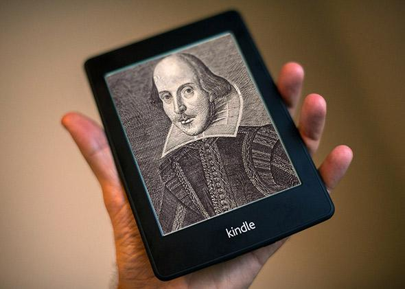 Shakespeare on a Kindle.