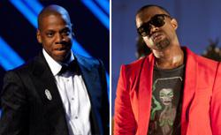 Rapper Jay-Z  and singer Kanye West. Clic k image to expand.