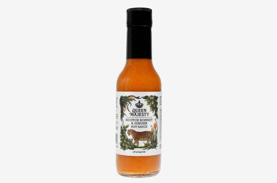 Queen Majesty Scotch Bonnet & Ginger Hot Sauce.