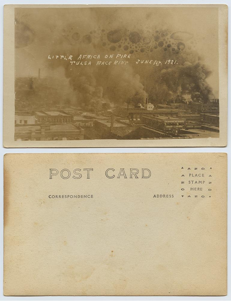Tulsa Race Riot history: Postcards made with images of ruins