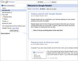 Google Reader. Click image to expand.