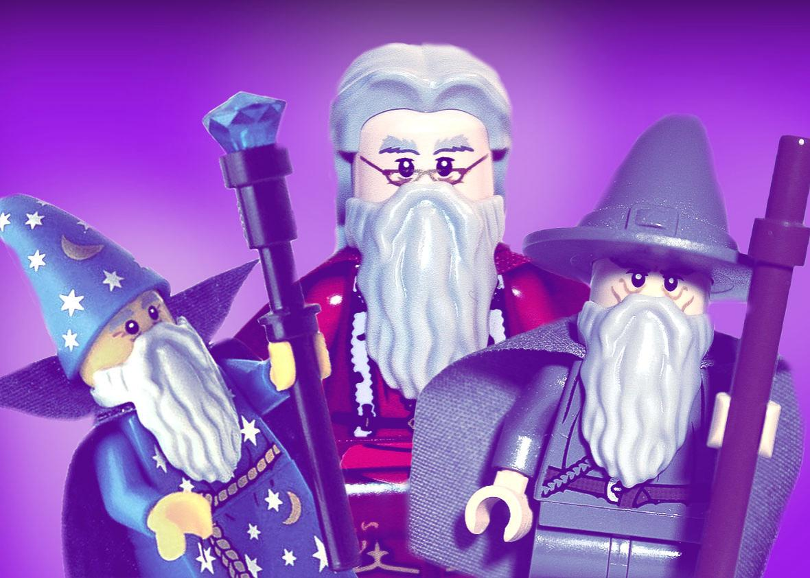 Merlin, Dumbledore and Gandalf.