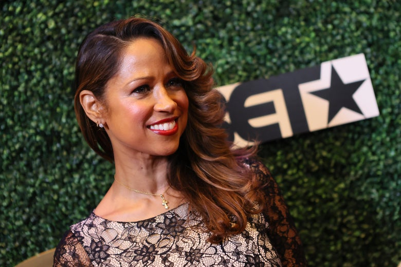 Stacey Dash attends The Diaspora Dialogues' 3rd Annual International Women Of Power Luncheon at Arbat Banquet Hall on March 7, 2020, in Burbank, California.