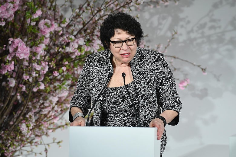 Justice Sonia Sotomayor attends The 2018 DVF Awards at United Nations on April 13, 2018 in New York City. (Photo by Dimitrios Kambouris/Getty Images)