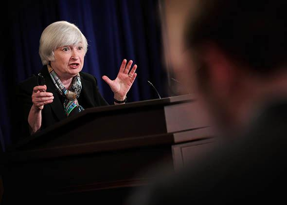 Federal Reserve Board Chair Janet Yellen arrives at a news conference March 19, 2014 at the Federal Reserve Board in Washington, DC.
