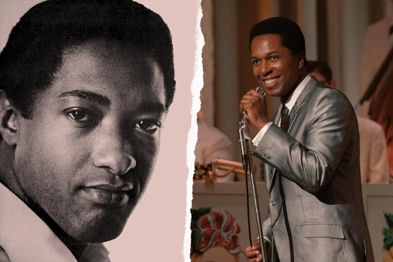 Sam Cooke in real life and in the movie.