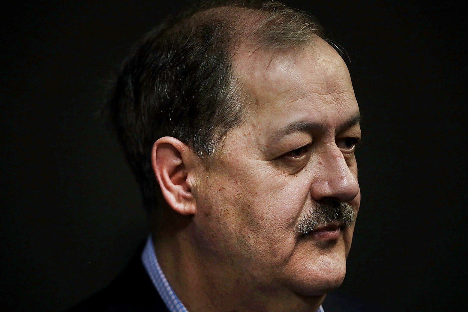 U.S. Senate candidate Don Blankenship speaks at a town hall meeting at West Virginia University on March 1 in Morgantown.