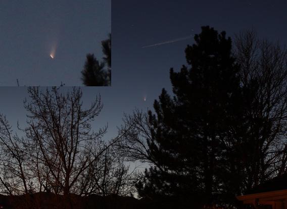 Comet over Boulder